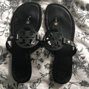 Tory Burch black Miller Sandals size 8